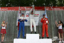 Podium : Andrew Ranger, vainqueur, avec Juan Martin Ponte et Sean McIntosh