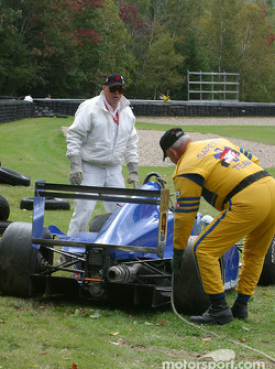 Safety crew cleans up the wreck
