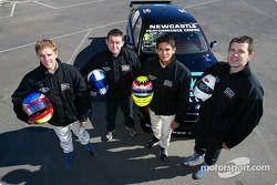 Alan Gurr, Luke Searle, Alex Yoong et Geoff Full