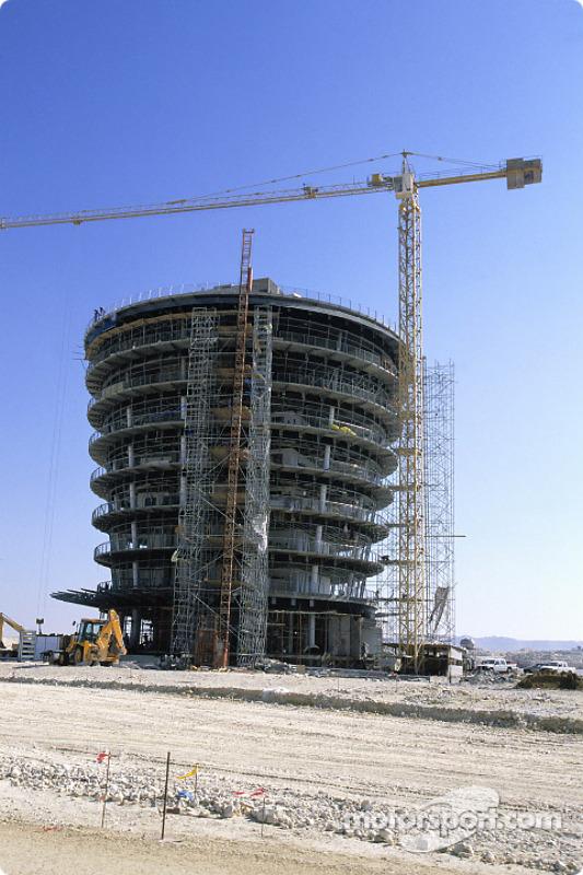 The Bahrain International Circuit construction site at Jenson Button