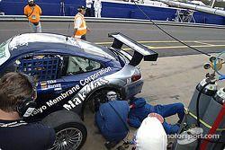 #24 Cirtek Motorsport Porsche 911 GT3 RS: Tim Harvey, Jonathon Rowland, Hermann Tilke, Melinda Price in the pit