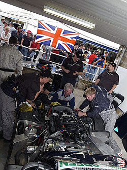 Adam Sharpe Motorsport pit area