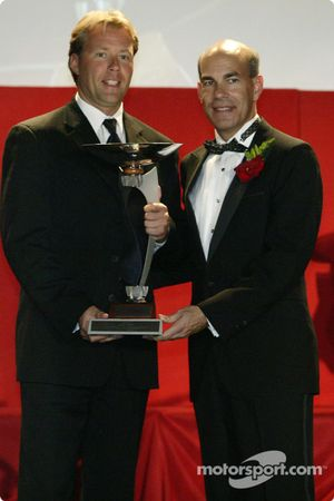 2nd in Drivers' Championship: JJ Lehto with ALMS COO Scott Atherton