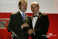 Rookie of the year: Marco Werner with ALMS COO Scott Atherton