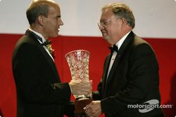 Manufacturers' champion: Rod Bymaster, Head of Audi Sport North America, with ALMS COO Scott Atherton