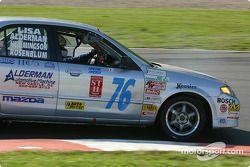 #76 ICY / SL Motorsports Mazda Protegé: Paul Alderman, Chuck Hemmingson