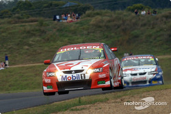 Mark Skaife with Rick Kelly breathing down his neck