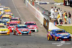 Start: Marcos Ambrose takes the lead