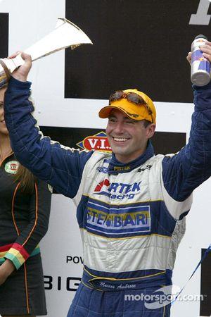Podium: race winner Marcos Ambrose