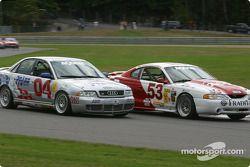 #04 Istook/Aines Motorsport Group Audi S4: Don Istook, Paul Zube, et #53 TF Racing / Max Q Mustang Cobra R: Emil Assentato, Nick Longhi