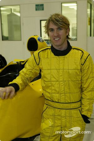 Nick Heidfeld seat fitting at Jordan factory