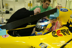 Nick Heidfeld seat fitting, Jordan faktöry