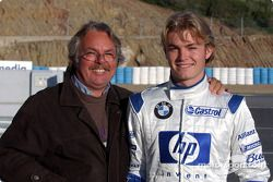 Nico Rosberg con su padre Keke Rosberg