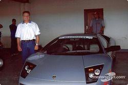 Marius Malherbe et la Lamborghini Murcielago