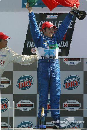 Podium: race winner Memo Rojas