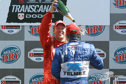 Podium: champagne shower for Memo Rojas