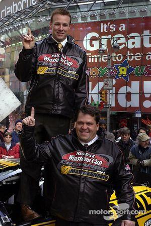 Matt Kenseth and Robbie Reiser in Time Square