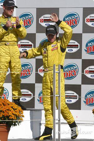 Podium: race winner A.J. Allmendinger
