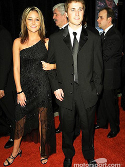 Kasey Kahne with his girlfriend