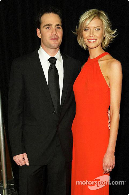 Jimmie Johnson with his girlfriend