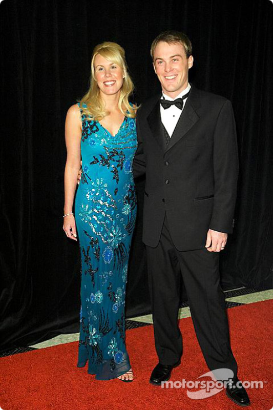Kevin Harvick with wife Delana