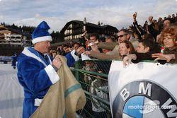 Ralf Schumacher déguisé en Père Noël