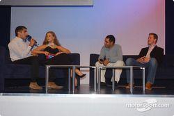 Fête BMW Motorsport : Barbara Schoeneberger, Ralf Schumacher, Juan Pablo Montoya et Marc Gené