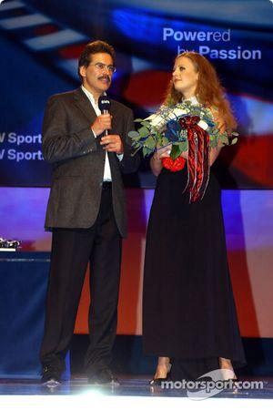Fête BMW Motorsport : Barbara Schoeneberger avec le Dr Mario Theissen