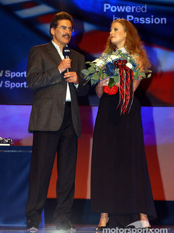 BMW Motorsport party: Barbara Schoeneberger ve Dr Mario Theissen