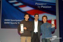 Fête BMW Motorsport : Mario Theissen avec les vainqueurs du prix BMW Ho-Pin Tung et Kyoug-Ouk You
