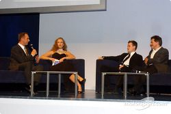 BMW Motorsport party: Dirk and Jorg Muller, Barbara Schoeneberger and Dr Mario Theissen