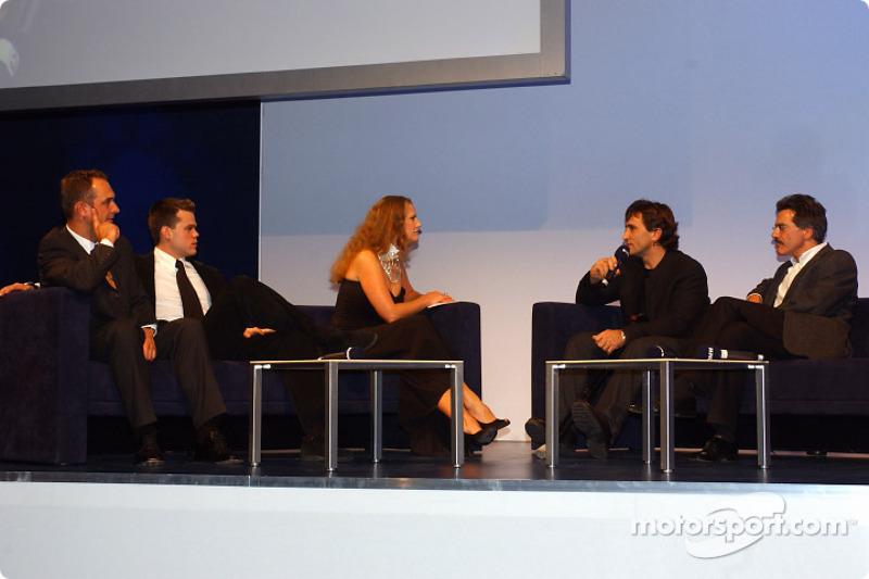 Fête BMW Motorsport : Jörg et Dirk Müller, Barbara Schoeneberger, Alex Zanardi et Dr Mario Theissen