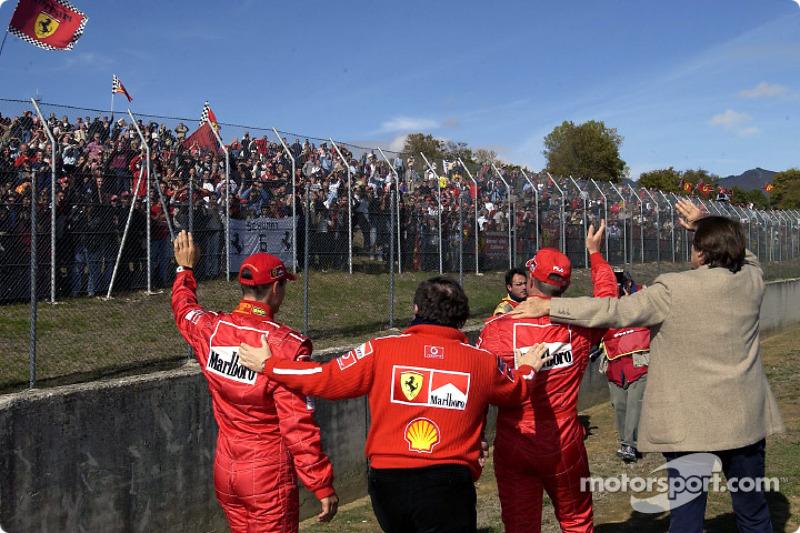 Michael Schumacher, Jean Todt, Luca Badoer ve Luca di Montezemolo