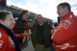 Jean Todt, John Elkann, Giuseppe Morchio et Ross Brawn