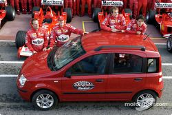 Barrichello, Schumacher, Badoer, Massa et la nouvelle Panda