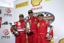 Ferrari 360 Challenge Pirelli Trophy, course 2 - le podium