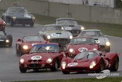 Shell Historic Ferrari-Maserati Challenge, grille C - Le départ