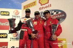 Ferrari 360 Challenge Pirelli Trophy course 1, le podium