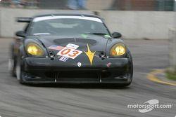 La Panoz Esperante GT-LM Elan n°03 de l'équipe Hyper Sport pilotée par Joe Foster, Brad Nyberg, Rick