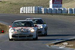 La n°74 du Flying Lizard Motorsports pilotée par Craig Watkins, Tommy Sadler, Lonnie Pechnik, Seth N