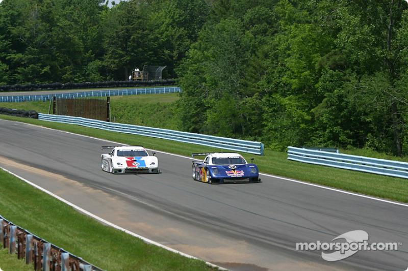 #58 Brumos Racing Porsche Fabcar: David Donohue, Mike Borkowski, Scott Goodyear, and #59 Brumos Racing Porsche Fabcar: Hurley Haywood, J.C. France, Chris Dyson