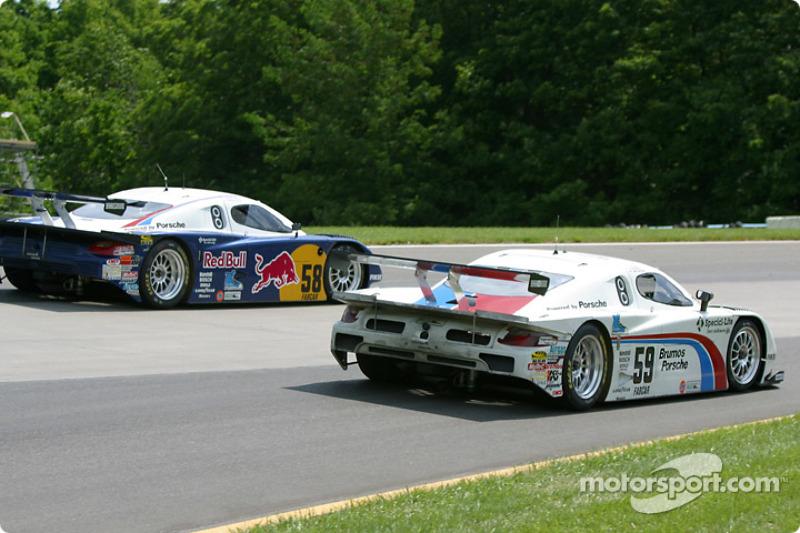 #58 Brumos Racing Porsche Fabcar: David Donohue, Mike Borkowski, Scott Goodyear, and #59 Brumos Raci