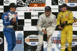 Podium: champagne for Ryan Dalziel, Kyle Krisiloff and A.J. Allmendinger