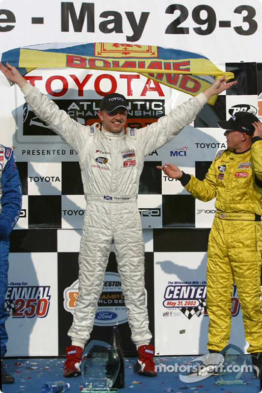 Podium: race winner Ryan Dalziel