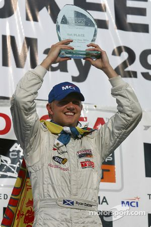 Podium: race winner Ryan Dalziel