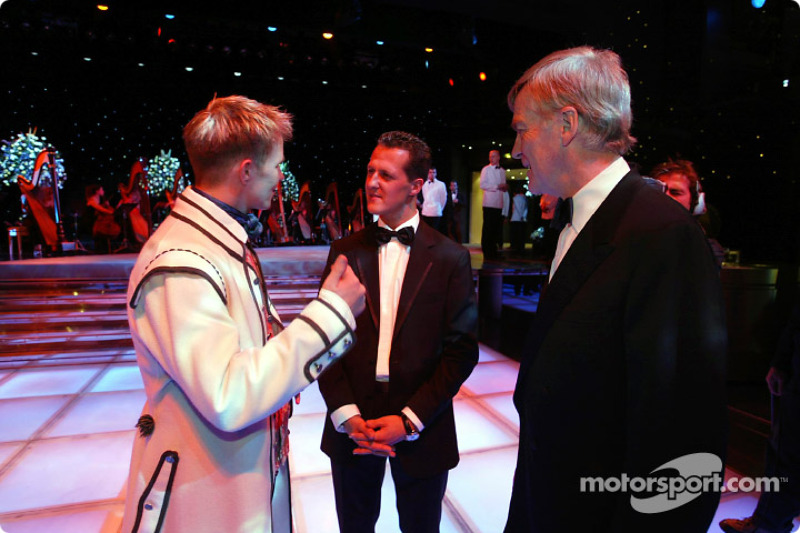 Petter Solberg, Michael Schumacher y Max Mosley