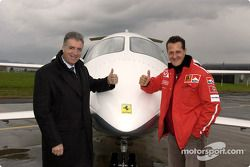 Piero Ferrari y Michael Schumacher