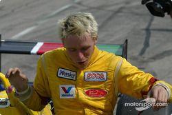 Race winner Rennie Clayton