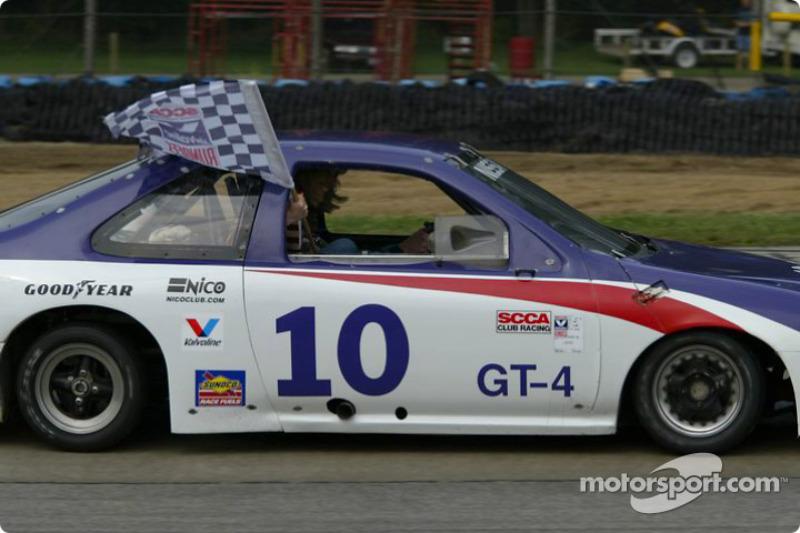 Race winner Keith Grant