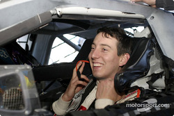 Kyle Busch prepares to make a run on Friday during the ARCA RE/MAX Series test session at Daytona International Speedway